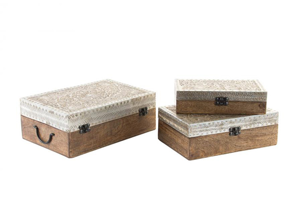 Set kutija od drveta manga / 3 31x21x9