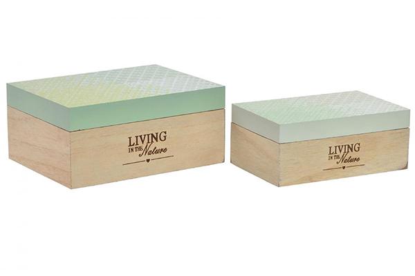 Set kutija tropical green / 2 20x15x9