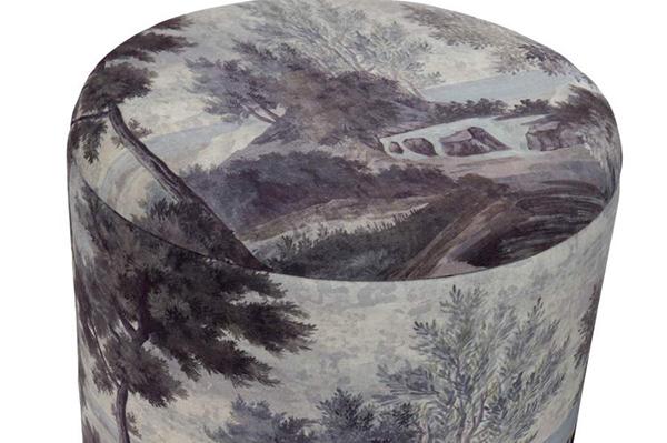 Set taburea oriental / 2 40x40x44