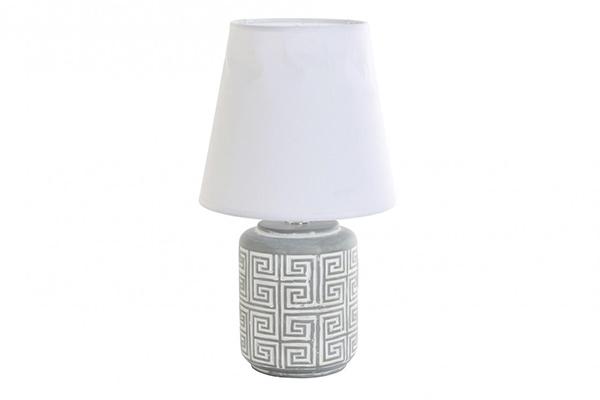 Sivo bela lampa  20x20x36