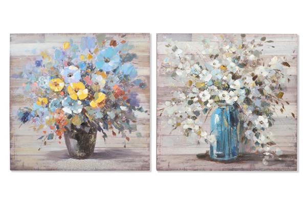 Slika cveće u vazi 100x100x4