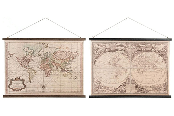 Slika world map 105x2x65 2 modela