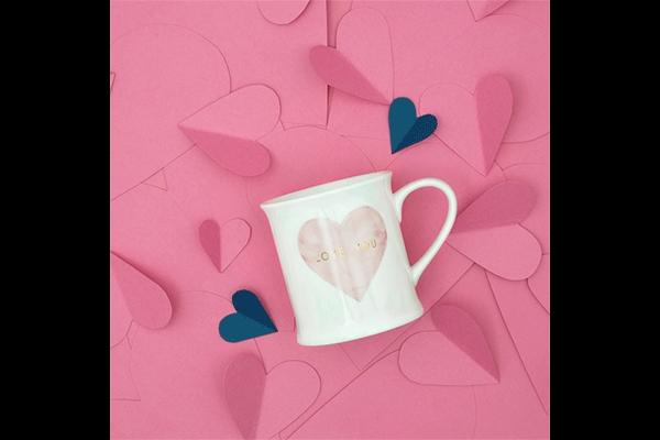 šolja pink heart 400 ml
