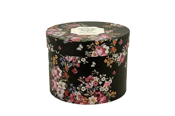 šolja vintage flowers black 430 ml