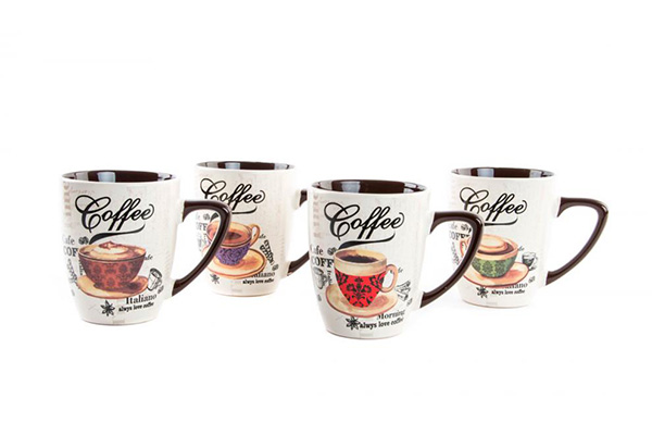 šolje coffee cup 360ml/keramika 4 modela