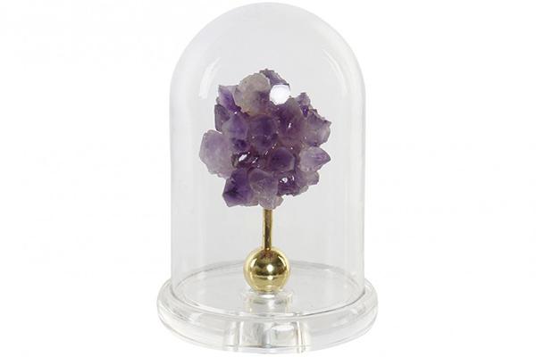 Staklena dekoracija mineral lilac 11,5x11,5x17