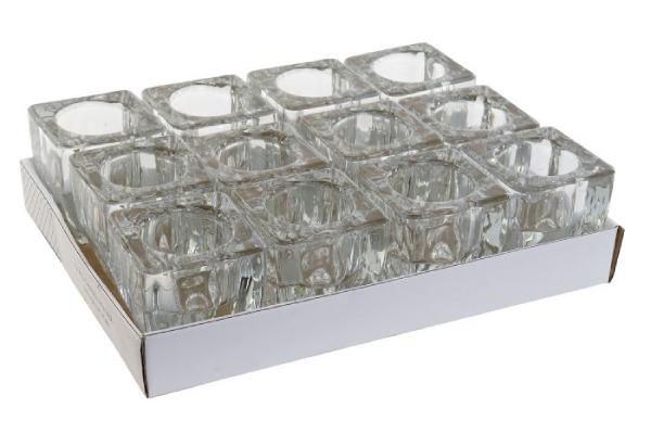 Stakleni svećnjak 6,5x6,5x7,5