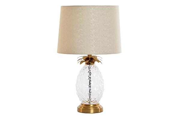 Stona lampa golden pineapple 28x28x47