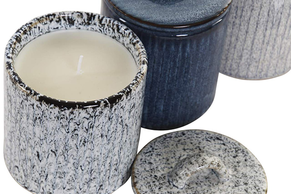 Sveća top / keramika 9x9x11 3 modela