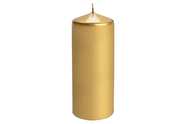 Sveca valjak 6*15 zlatna