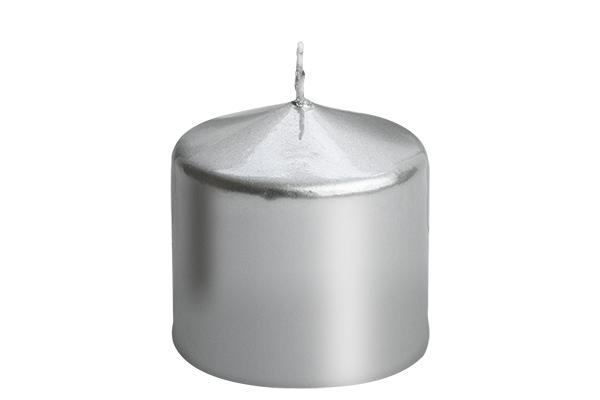 Sveca valjak 6*6 srebrna