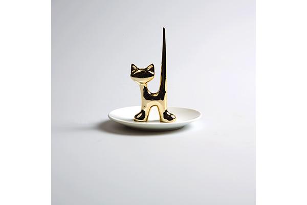 Tacna za nakit zlatna mačka