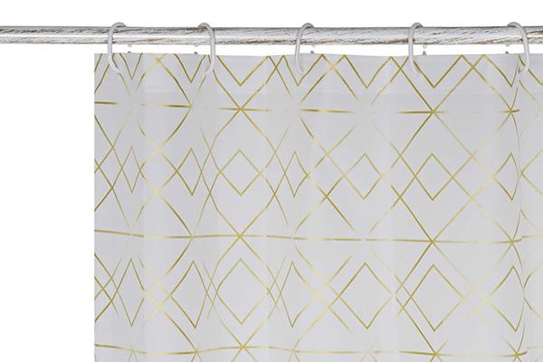 Tuš zavesa geometric golden 180x200