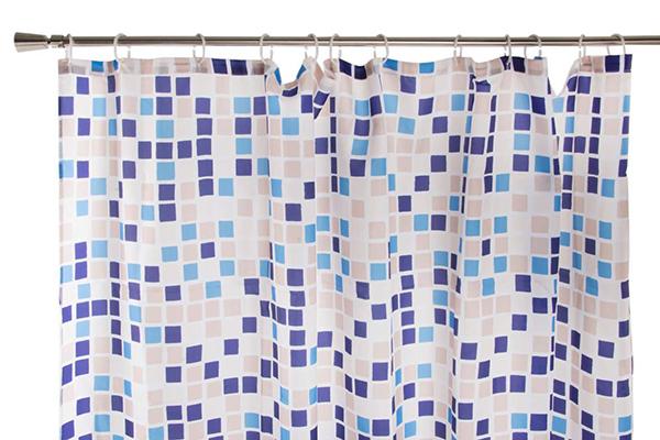 Tuš zavesa plavo bele kockice 180x200