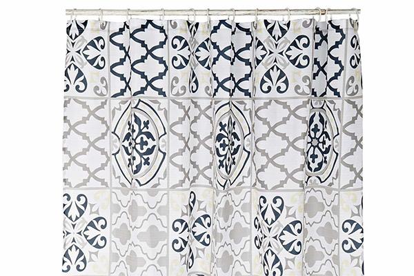 Tuš zavesa zig zag 180x200