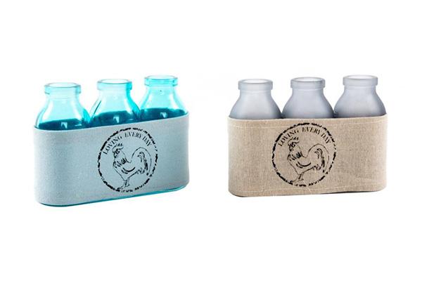 Vaze flaše/set 3 15x5x10.5