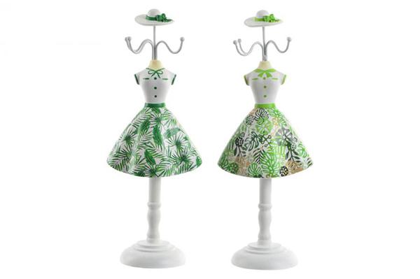 Zeleno beli držač nakita 12x8,5x32,5 2 modela