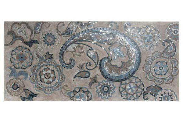 Zidna dekoracija floral 122x56x4