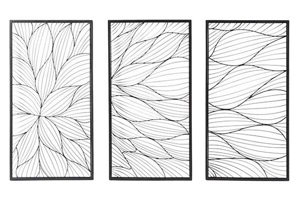 Zidna dekoracija flower set / 3 41,5x2x80