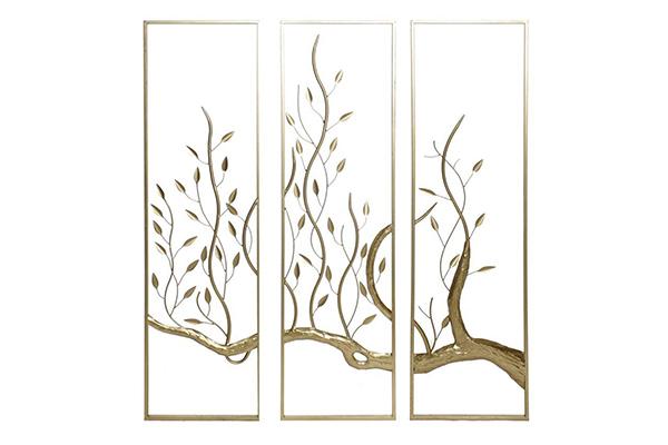 Zidna dekoracija tree golden / 3 33x3x120