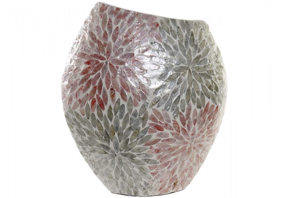 Asimetrična vaza mosaic coral 39x18x45