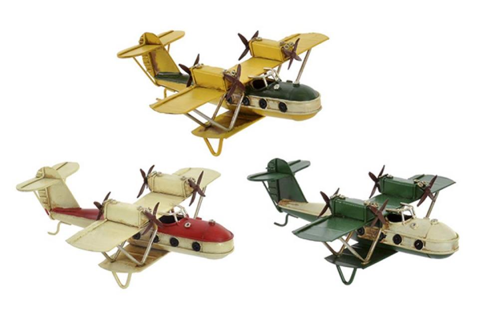 Avion metal dekoracija16x15,5x6,5 3 modela
