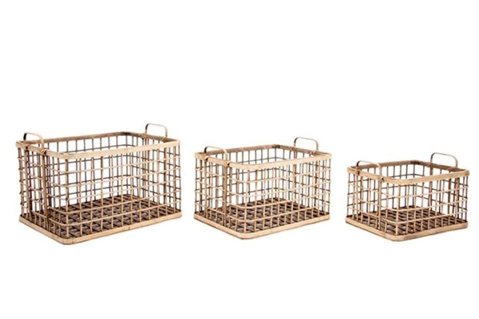 Bambus korpe / set 3 46x36,5x27