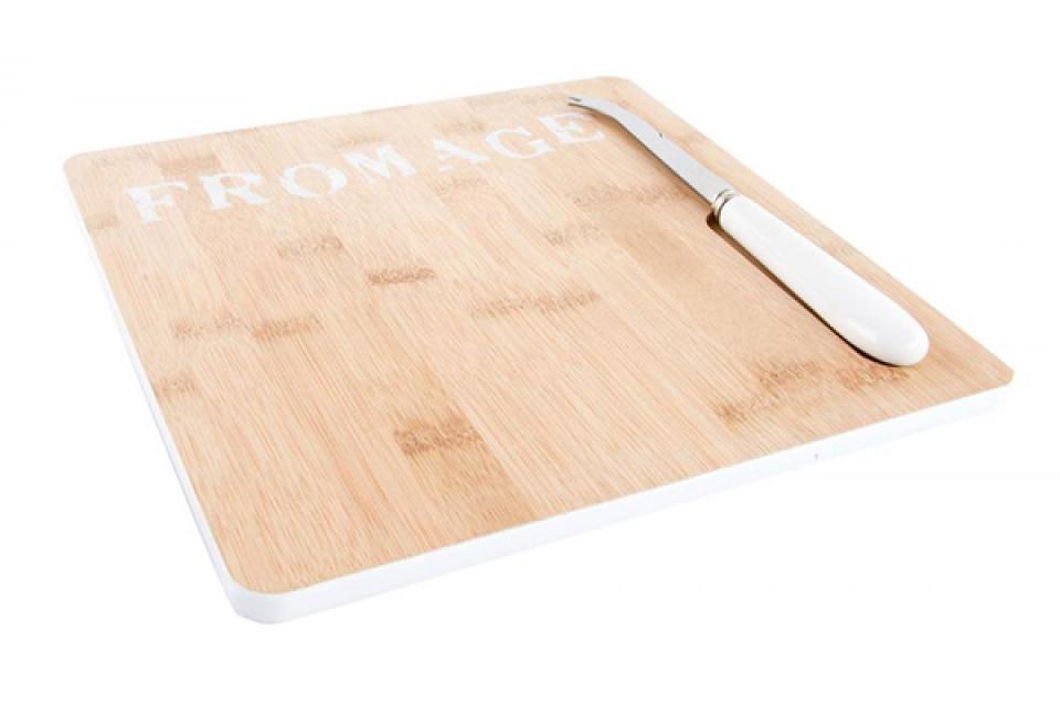 Bambus kuhinjski set daska i nož  25x25x2,5