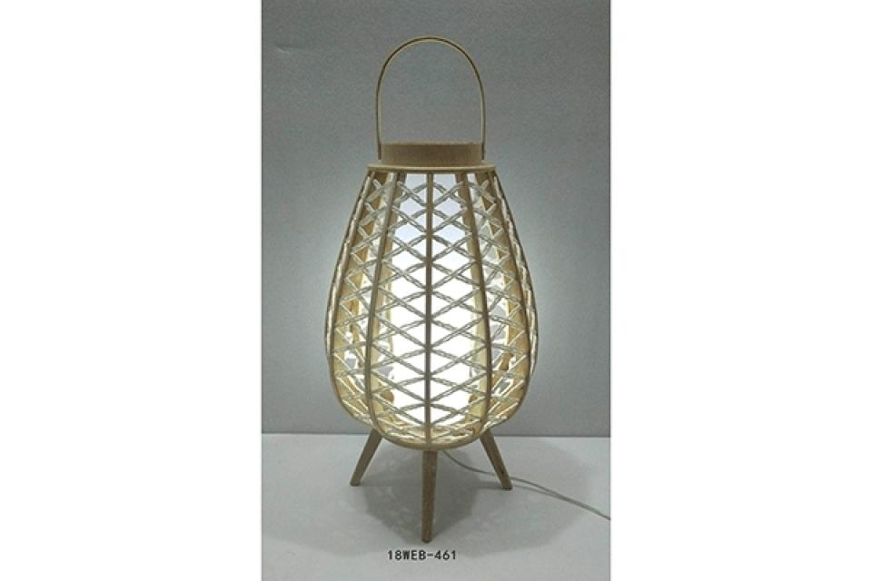 Bambus lampa 32x32x69