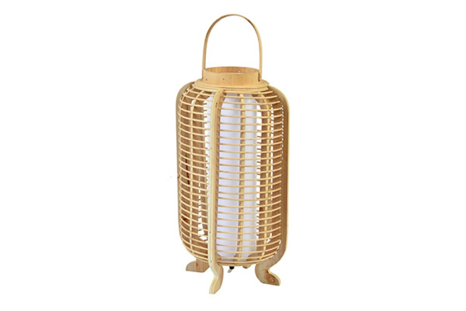 Bambus lampa sa naturel 26x26x61 podna lampa