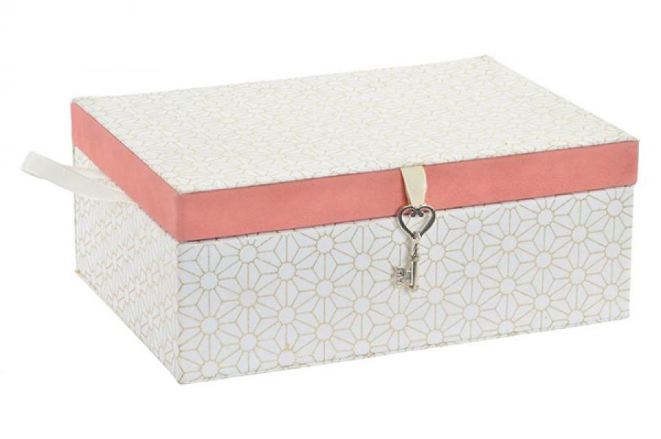 Bela kutija za nakit ključ 23x17x9,5