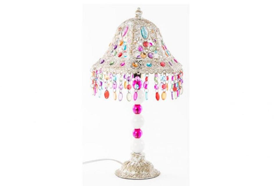 Bela lampa sa perlicama 24x45, sobne lampe