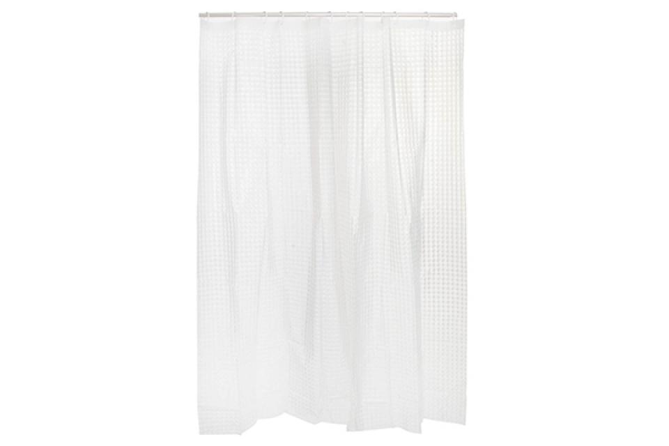 Bela tuš zavesa 180x180