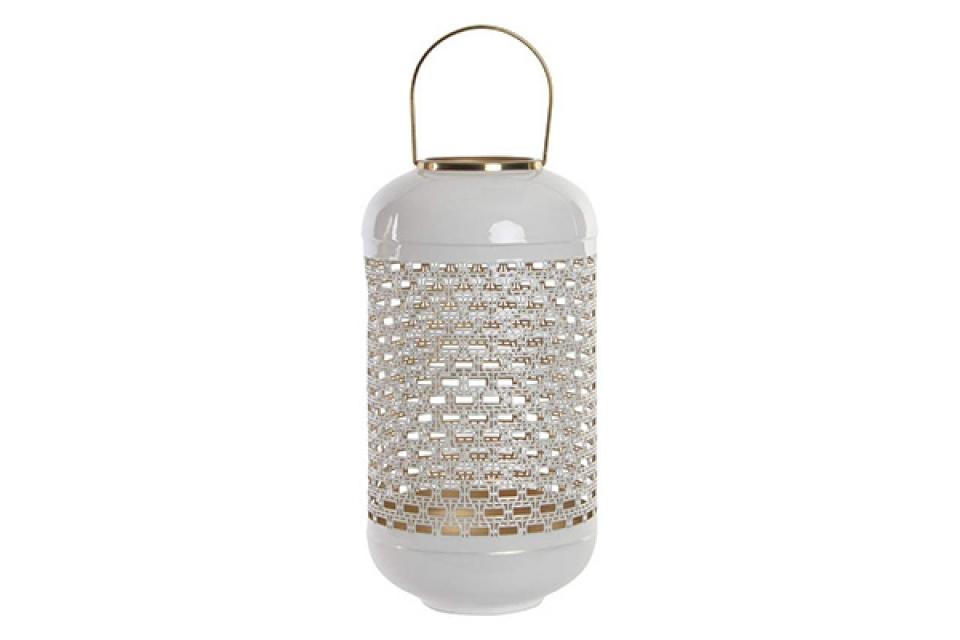 Beli aluminijumski svećnjak 24x24x46