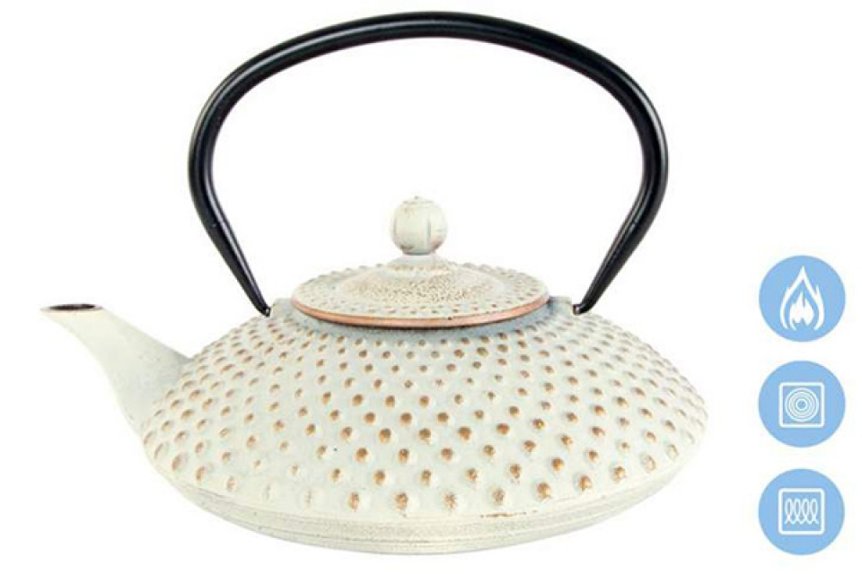 Beli čajnik sa infuzerom 24x20x12 1,25 l.