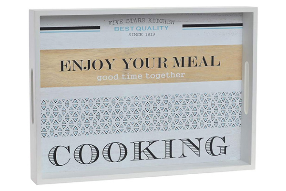 Beli poslužavnik cooking 40x29x5