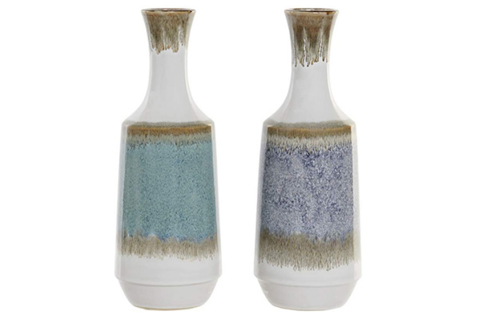 Belo plava vaza 13x13x36,5 2 modela