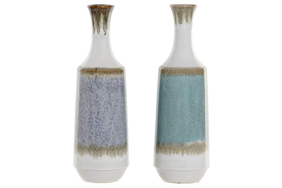 Belo plava vaza 14,5x14,5x47 2 modela