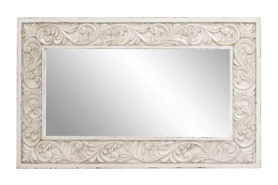 Belo zidno ogledalo 60x105