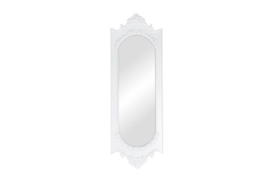 Belo zidno ogledalo ružice 39x120x2