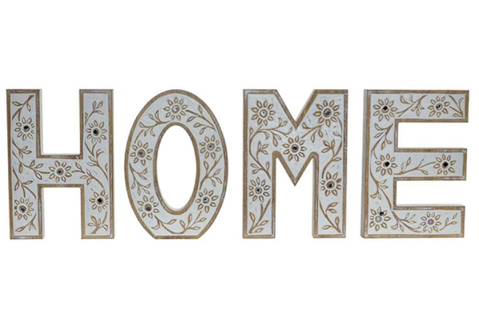 Bež dekoracija home 15x1,8x24, SLOVO na komad