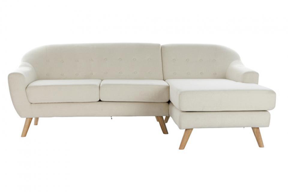 Bež kauč sa drvenim nogicama 226x144x84