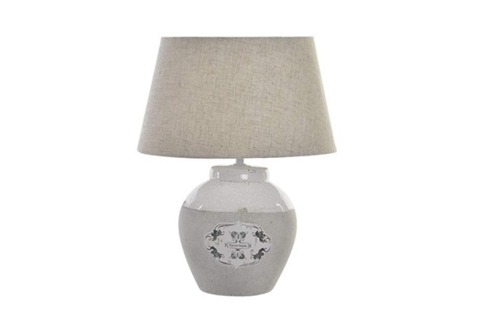Bež keramička lampa 30x39, stone lampe