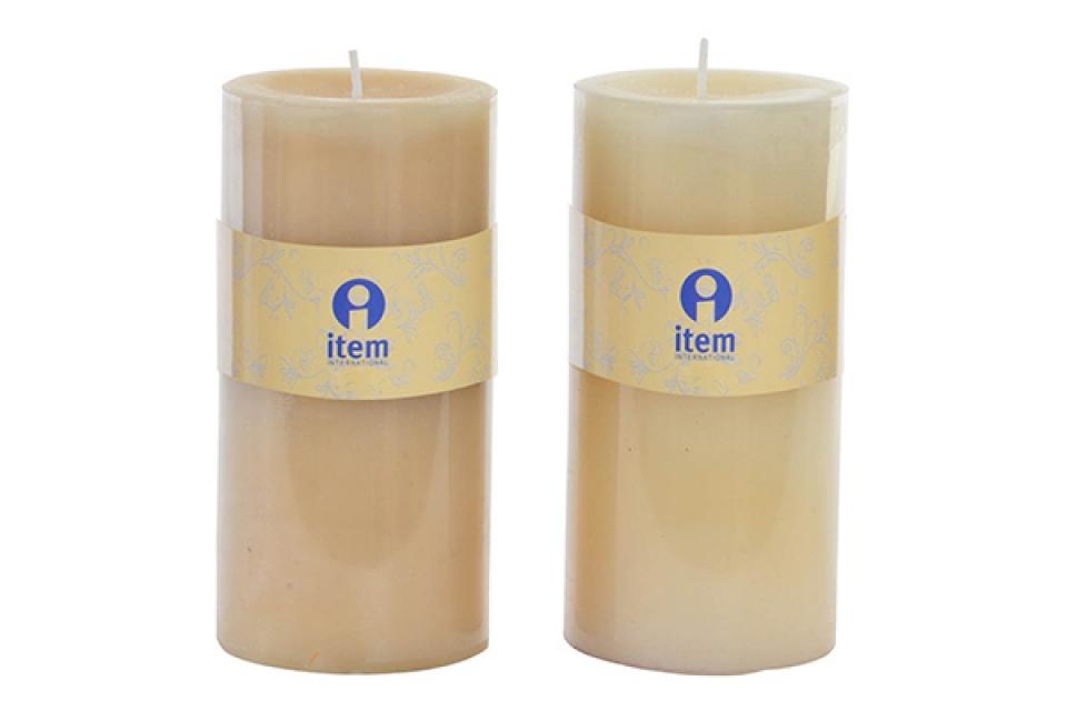 Bež mirisna sveća 6,8x14 2% 2 modela