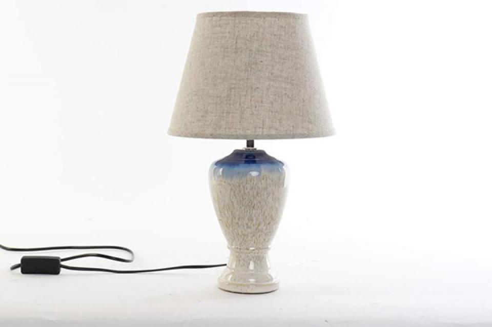 Bež plava lampa 28x40