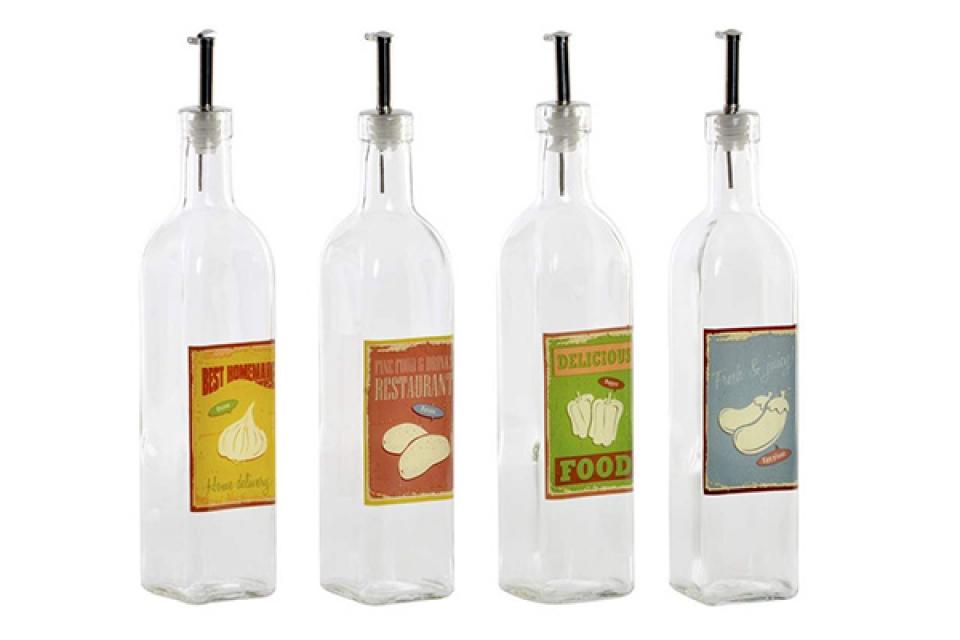 Boca za ulje food 6x6x30,5 500 ml. 4 modela