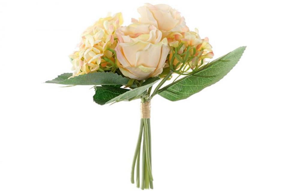 Bouquet tissu plastique 32x32 fleurs