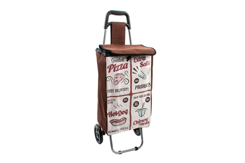 Braon braon kolica za kupovinu 35x28x95