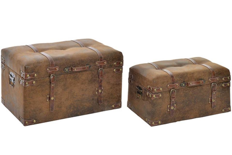 Braon kovčeg kanabe set / 2 60x36x35