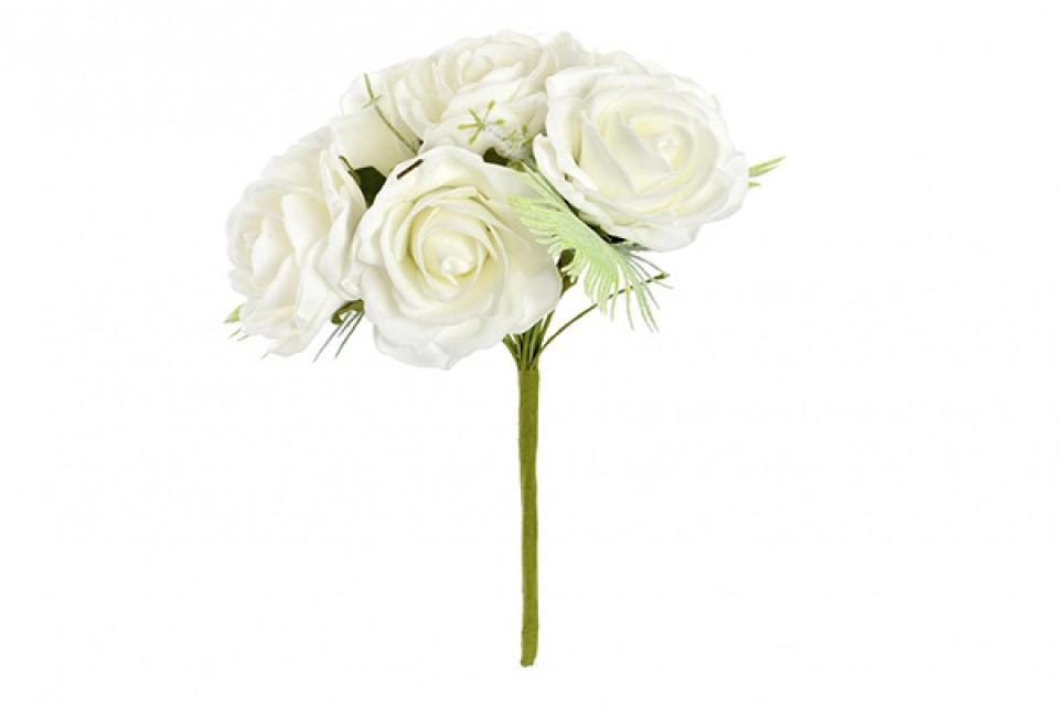Buket bele ruže 17x17x24 24